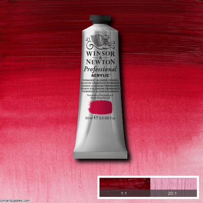 Permanent Alizarin Crimson 60ml Artists' Acrylic Winsor & Newton