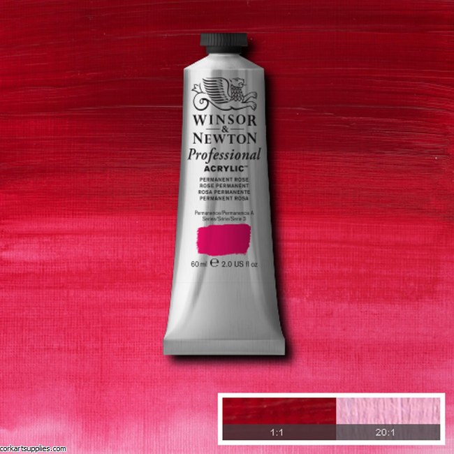 Permanent Rose Quinac 60ml Artists' Acrylic Winsor & Newton