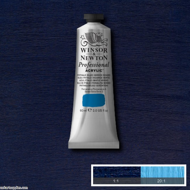 Phthalo Blue Green Shade 60ml Artists' Acrylic Winsor & Newton