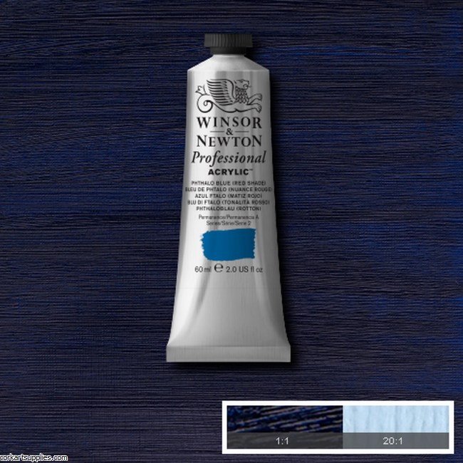 Phthalo Blue Red Shade 60ml Artists' Acrylic Winsor & Newton