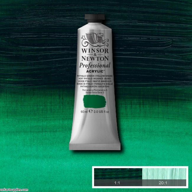 Phthalo Green Yellow Shade 60ml Artists' Acrylic Winsor & Newton