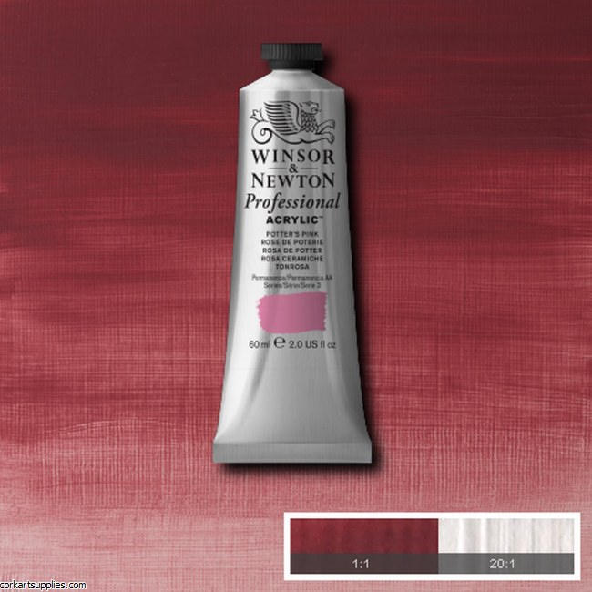 Potters Pink 60ml Artists' Acrylic Winsor & Newton