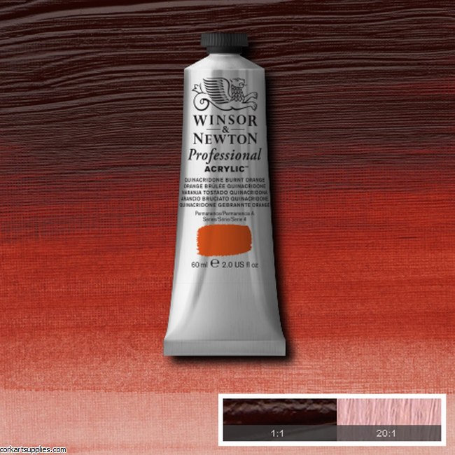 Quinac Burnt Orange 60ml Artists' Acrylic Winsor & Newton