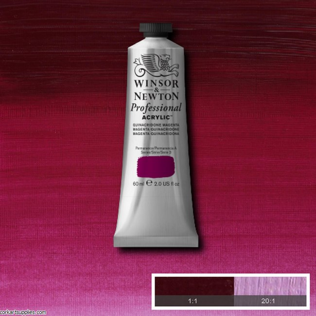 Quinac Magenta 60ml Artists' Acrylic Winsor & Newton