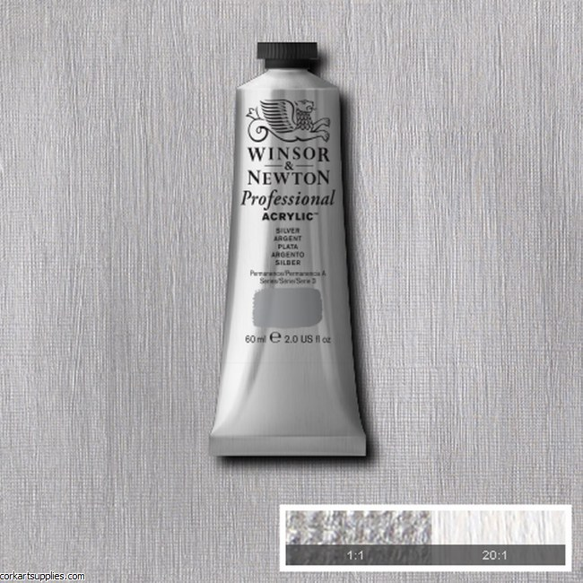 Silver 60ml Artists' Acrylic Winsor & Newton
