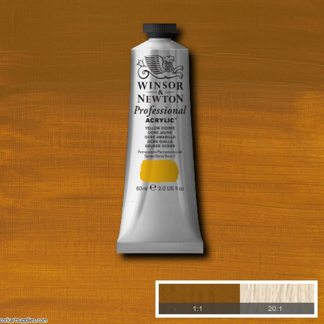 Yellow Ochre 60ml Artists' Acrylic Winsor & Newton