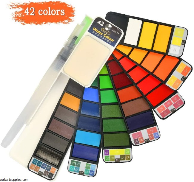 Watercolour Set 42pk Colours