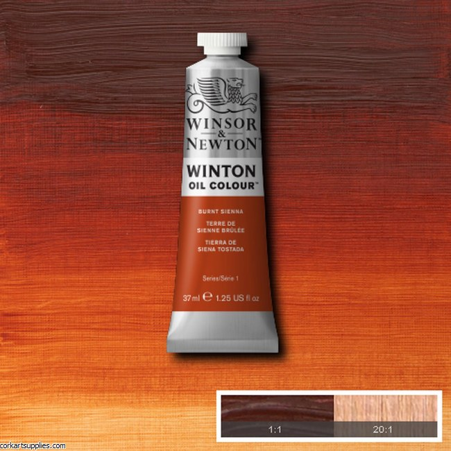 Winton Oil Colour 37ml Burnt Sienna