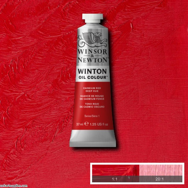 Winton Oil Colour 37ml Cadmium Red Deep (Hue)