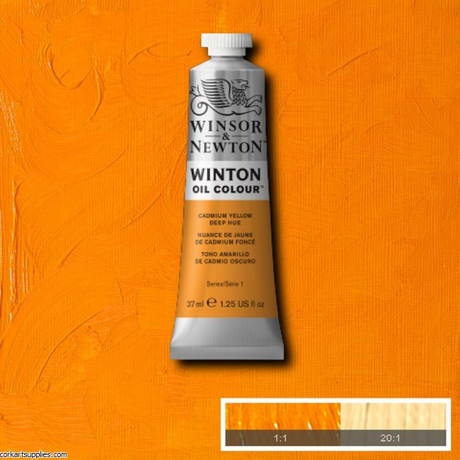 Winton Oil Colour 37ml Cadmium Yellow Deep (Hue)