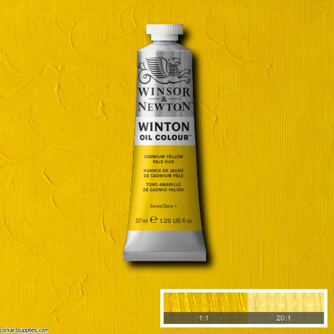 Winton Oil Colour 37ml Cadmium Yellow Pale (Hue)