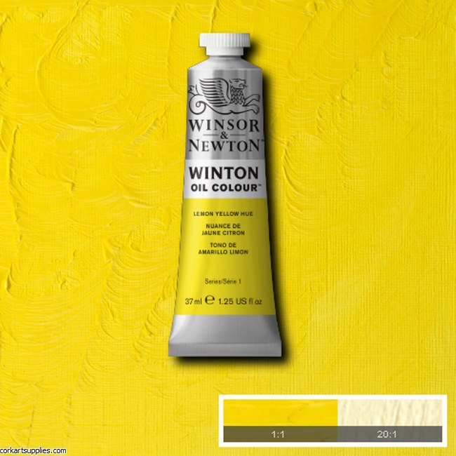 Winton Oil Colour 37ml Lemon Yellow (Hue)