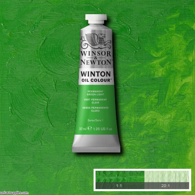 Winton Oil Colour 37ml Permanent Green Light