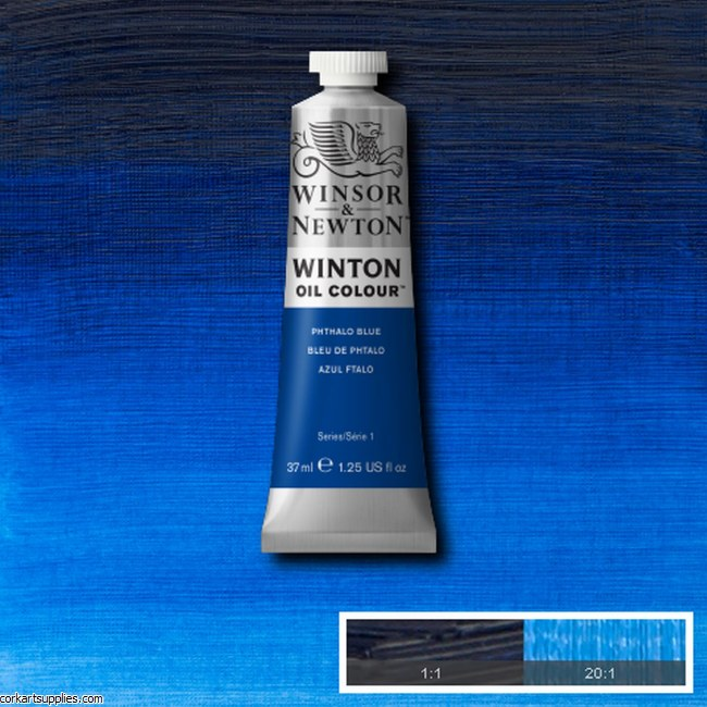 Winton Oil Colour 37ml Phthalo Blue