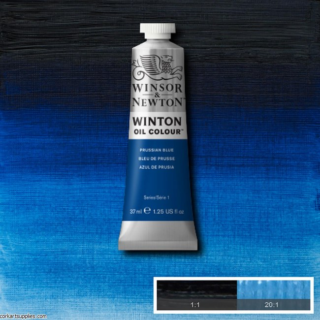 Winton Oil Colour 37ml Prussian Blue