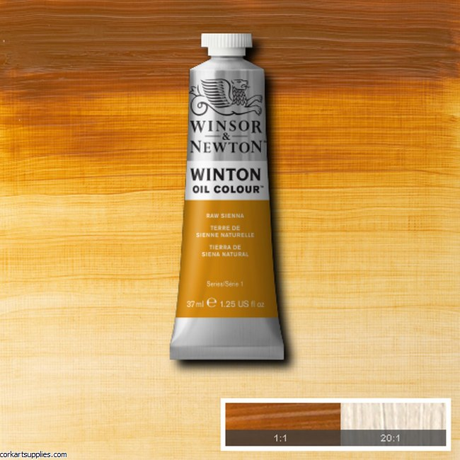Winton Oil Colour 37ml Raw Sienna