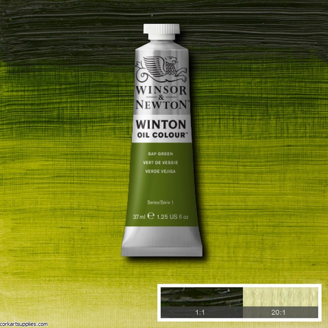 Winton Oil Colour 37ml Sap Green