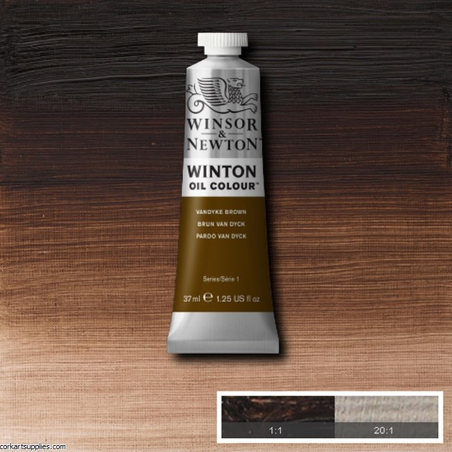 Winton Oil Colour 37ml Vandyke Brown