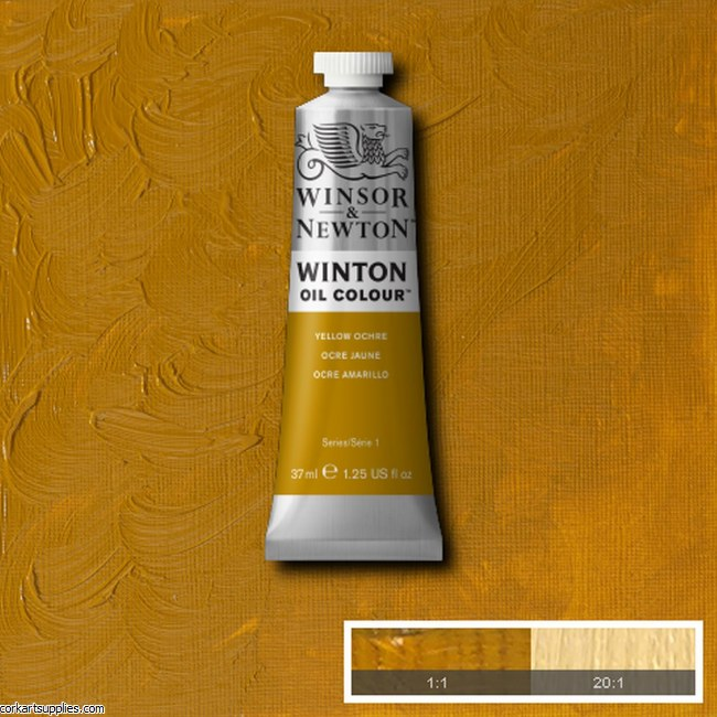Winton Oil Colour 37ml Yellow Ochre