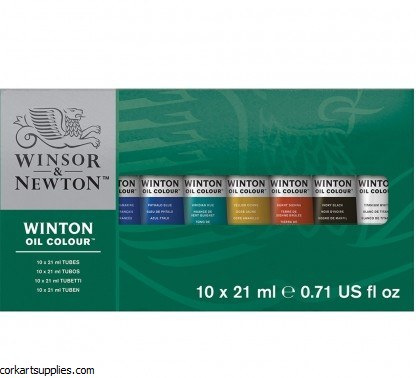 Winton Oil Colour Basic Set 10x21ml