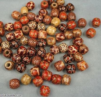 Beads Vintage Wood 12mm 100pk