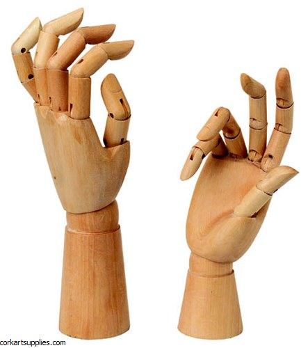 Manikin Wooden Hand Right Sml