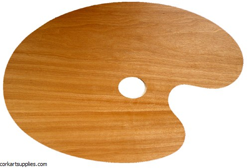 Palette Wood 5mm Oval 27x41cm