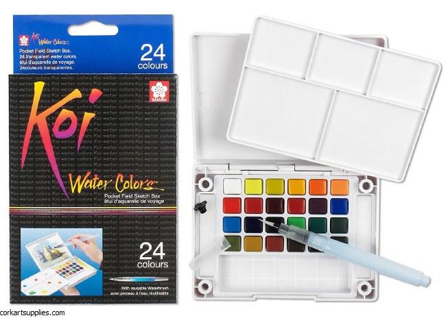 Koi Water Colours 24pk