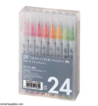 Kuretake / Zig Set Real Brush 24 Pcs