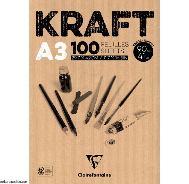Kraft Brown 90g 100sh A3