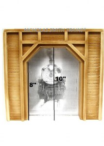 G SCALE BUILDING TUNNEL PORTAL FOR USE w LGB ACCUCRAFT USA TRAINS /& LOCOMOTIVES