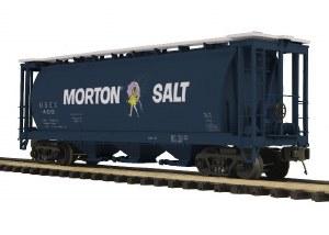 MORTON SALT CYLINDRICAL HOPPER