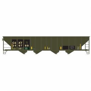 CSX 100T QUAD HOPPER #342733