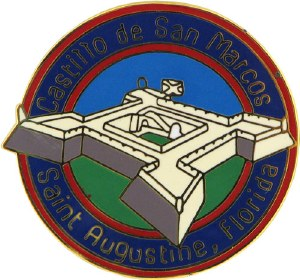 Castillo de San Marcos Fort Lapel Pin