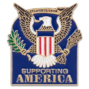 Supporting America Lapel Pin