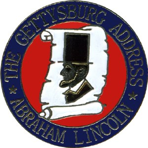 Lincoln Gettysburg Address Pin
