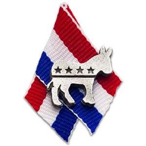 Democratic Donkey Pewter Pin