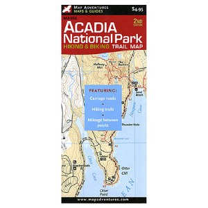 Acadia National Park Hiking & Biking Trail Map