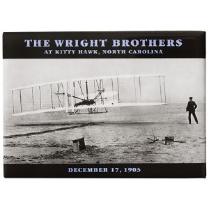 Wright Brothers Photo Magnet