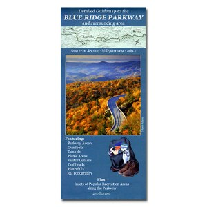 Guidemap to the Blue Ridge Parkway and Surrounding Area: Southern Section