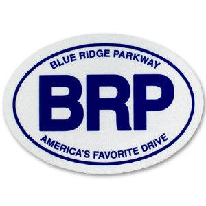 "Blue Ridge Parkway Oval ""Euro"" Decal"