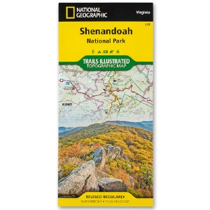 Shenandoah National Park Trails Illustrated Topographical Map