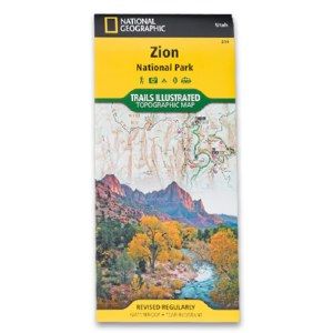 National Geographic Trails Illustrated Zion National Park Map