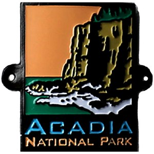 ANP Acadia National Park Walking Stick Medallion
