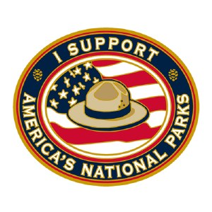 """I Support America's National Parks"" Pin"