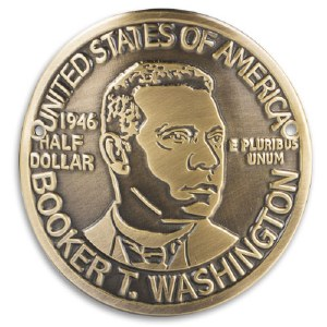 Booker T. Washington Half Dollar Coin Hiking Medallion
