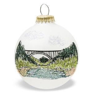 New River Gorge National River Bridge Christmas Tree Ornament
