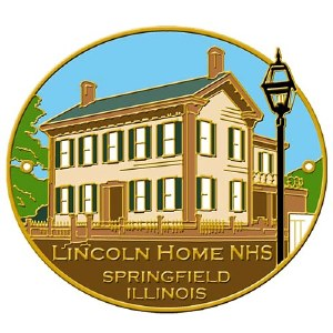 Lincoln Home Hiking Stick Medallion