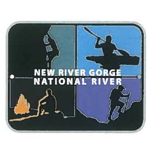 New River Gorge National River Adventures Lapel pin