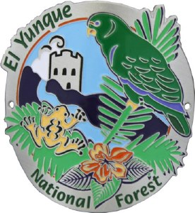 El Yunque National Forest Hiking Stick Medallion